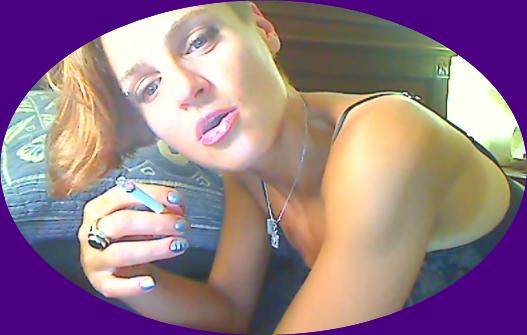 smoking fetish camgirl in lingerie