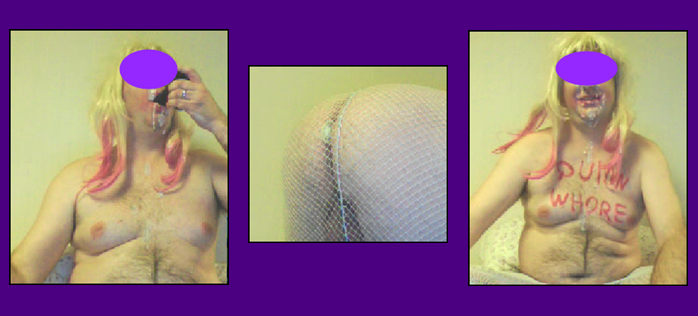sissy slut on skype sucking a black dildo picture montage